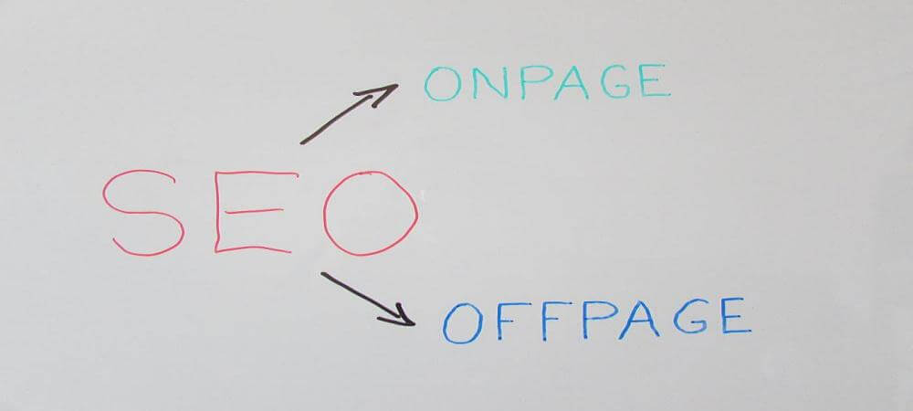SEO on page - off page - Brisbane Australia