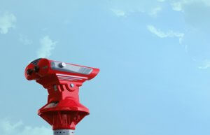 SEO Search Intent Brisbane – Red Binoculars and blue sky